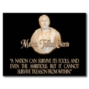 Cicero Quote on Treason Post Card
