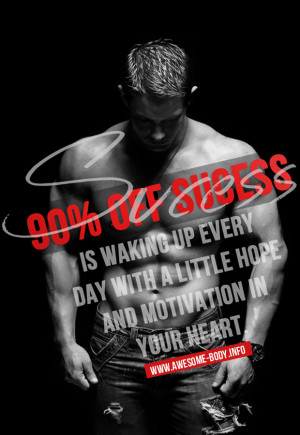 To be successful wake up with motivation | awesome bodybuilding quotes