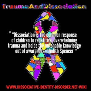 Dissociation is the common response of children to repetitive ...
