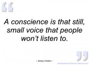 conscience is that still jiminy cricket