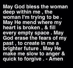 Prayer, Amen, Life, Inspiration, Quotes, Faith, Woman, God Blessed ...