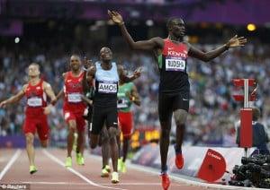 David Rudisha wins the 800 metres in world record time (DailyMail)