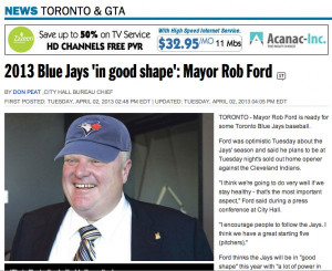 Before the baseball season started, Ford said the Blue Jays would be ...