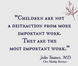 Raising a child is the most valuable work. #children #job
