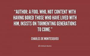 Charles De Montesquieu Quotes