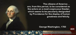 The citizens of America ... are, form this period, to be considered as ...
