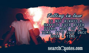 Falling in love is not always a happily ever after story. Most of the ...