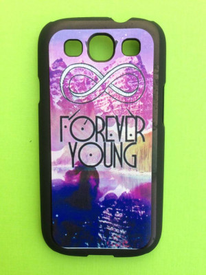 Home Samsung Galaxy S3 Quote hoesje hard Case Forever Young