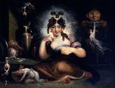 Henry Fuseli. Faery Mab. Oil on canvas, ca. 1815-1820. Folger ...