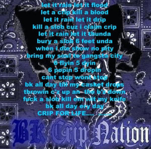 crip life fucc slobkz dis crip gang fo real never fucc u slobkz let it ...