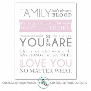 """Be the first to review """"Family Print – Family Quote Pink"""" Click ..."""