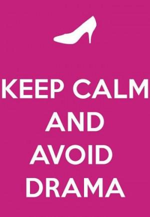 Amen!! I hate drama