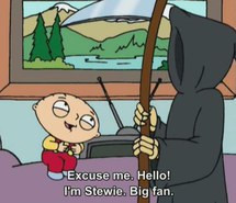 american dad, death, funny, laught, quotes, show, stewie, tv