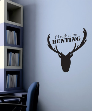 belvedere designs black hunting wall quote