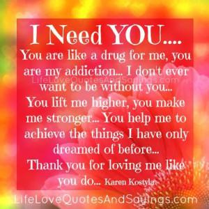 Need You..