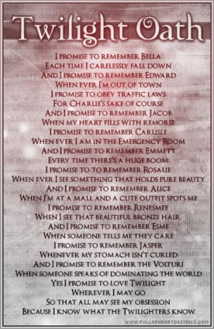 Vampires vs. Werewolf Twilight oath
