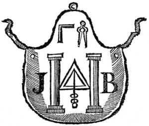 18th century masonic apron