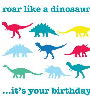 Dinosaur Birthday Lunch