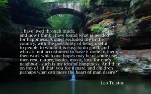 Tolstoy, Family Happiness motivational inspirational love life quotes ...
