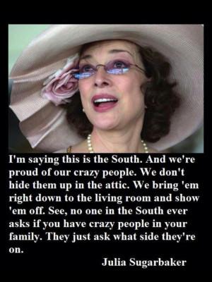 ... True... One of my favorite Designing Women moments! Julia Sugarbaker