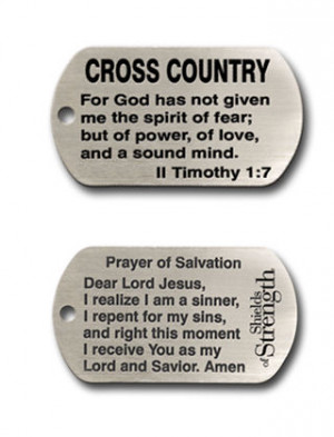Cross Country Inspirational Dog Tag Chain Sports Necklace