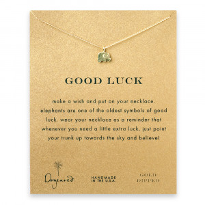Start her off on her post-college journey with this delicate good luck ...