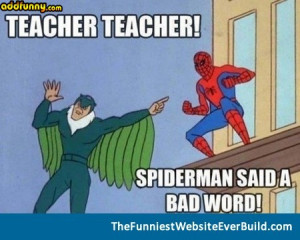 Spiderman says bad words random
