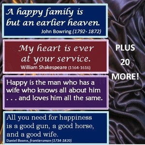 Happy Family is but an earlier heaven Anniversary Quote