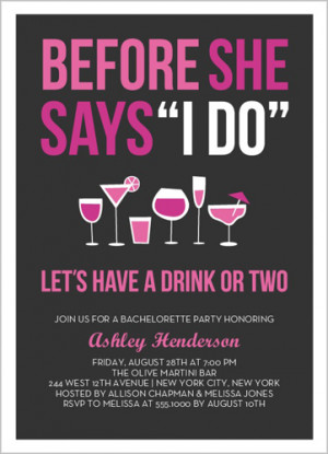 Before The I Do Bachelorette Party Invitation by Stacy Claire Boyd