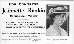 Jeannette sent this card to Montana voters in 1916.