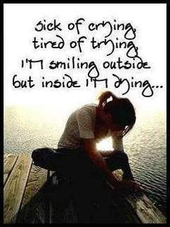 Sick Of Crying, Tired Of Trying… ~ Sad Quote