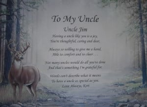 Details about TO MY UNCLE PERSONALIZED POEM BIRTHDAY OR CHRISTMAS GIFT ...