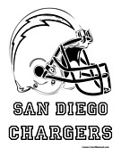 San Diego Chargers Coloring Pages