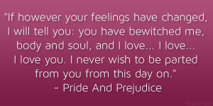 Pride And Prejudice Love Quotes