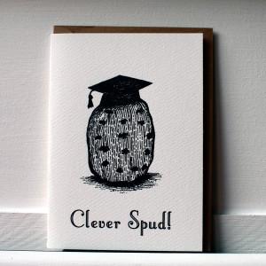 Clever Spud Graduation Celebration Card