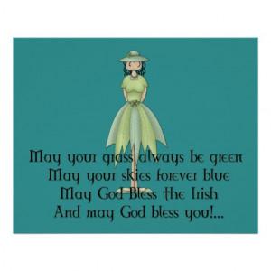 Irish Fairy Girl - Irish Quote Poster
