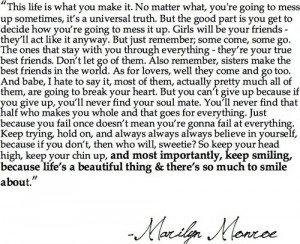 friendship quotes by marilyn monroe