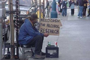 Here's a link for the source and two dozen more homeless signs (maybe ...