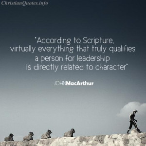 John MacArthur Quote - Leadership - person walking in front