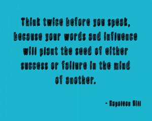Quote: Napoleon Hill