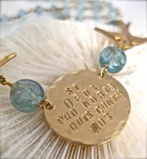 Inspirational Quote Jewelry Birds and Gemstone by onelifejewelry, $110 ...