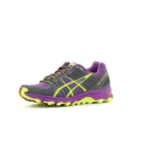 Asics Gel Fujitrabuco running shoes men Ladies yellow purple running