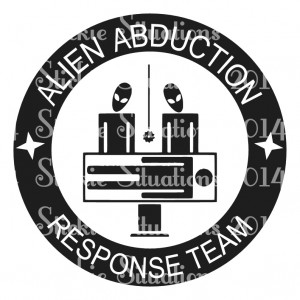 Alien Abduction Response Decal