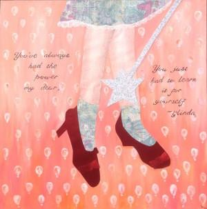 Wizard of oz art, ruby slippers, Glinda quote, Dorothy art, on Etsy, $ ...