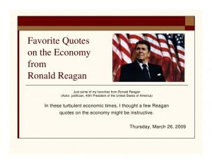 Reagan Economics Quotes