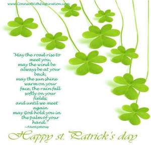 St Patrick's Day, Blessing, Gaelic, May The Road Rise To Meet You ...