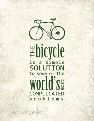The bicycle is a simple solution to some of the world's most ...
