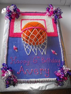 Girlie Basketball Cake
