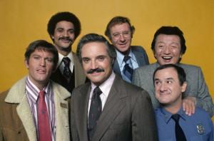 ... , Ron Glass, Steve Landesberg and Hal Linden in Barney Miller (1974