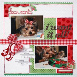 Dear Santa **Scrapbooking and Beyond** - Scrapbook.com Scrapbook Ideas ...